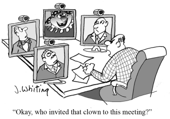 Conference Call Tone_ClownMeetingCartoon